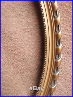 Très beau grand cadre ovale ancien Art déco 1920