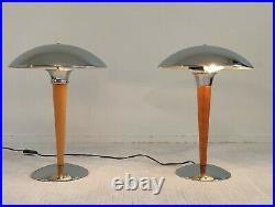 Très belle paire de lampes de table PAQUEBOT en très bon état