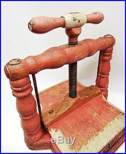 Trés déco et rare presse à herbier 19ème tout en bois art populaire
