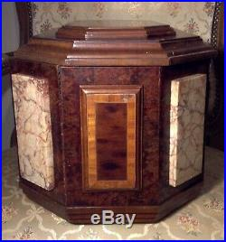 Très rare GRAND coffret à bijoux ART-DECO bois placage et marbre 1920 BOX JEWELS