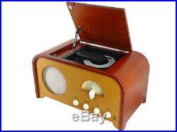 VINTAGE NOSTALGIE Lecteur CD et Radio FM, bois véritable VINTAGE RETRO ART DECO