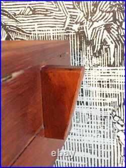 VINTAGE TRAVAILLEUSE ART DéCO bois Boîte à ouvrage couture DESIGN 1950-60