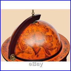 VidaXL Bar Globe Terrestre Mappemonde en Bois