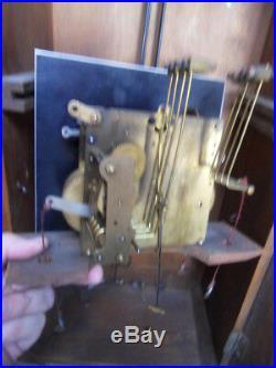 Vintage art deco wall clock uhr pendule horloge murale carillon JUNGHANS