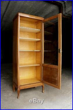 Vitrine-armoire en bois blond Art Déco / Vintage et excellent état