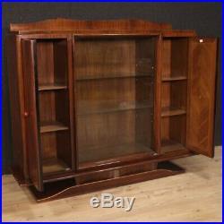 Vitrine bibliothèque style ancien Art Deco meuble de salon buffet en bois 900