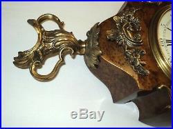 # pendule cartel louis XV bois bronze mécanique aiguilles hour lavigne paris